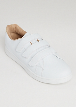 Strapped Low Top Sneakers