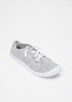 Gray Space Dye Low Top Sneakers