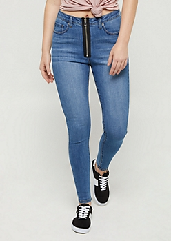 Zipped Xtra High Rise Jeggings in Regular