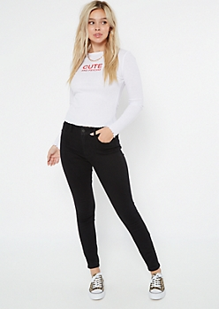 Ultimate Stretch Black High Waisted Curvy Jeggings