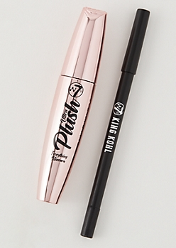 2-Pack W7 Ultra Plush Mascara Eyeliner Set