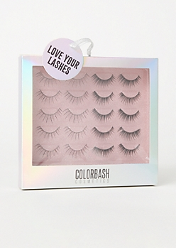 10-Pack Faux Eyelash Gift Set