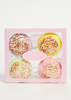4-Pack Sweet Cupcake Bath Bomb Set