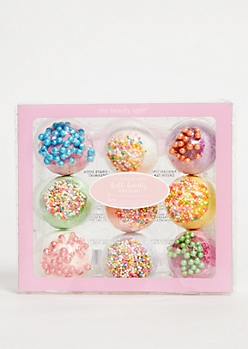 9-Pack Sweet Donut Hole Bath Bomb Set