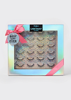 12-Pack Faux Eyelash Gift Set
