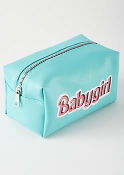 Teal Baby Girl Makeup Bag