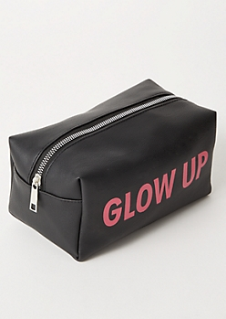 Black Glow Up Makeup Bag