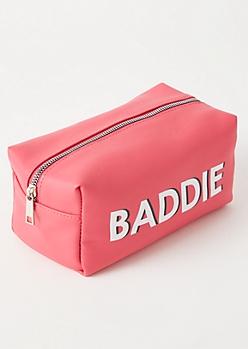 Pink Baddie Makeup Bag