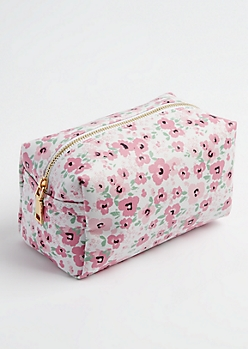 Pink Floral Zipper Case
