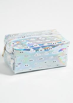 Iridescent Cloud Structured Makeup Bag