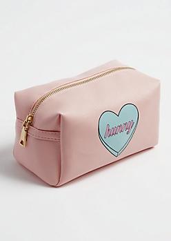 Hunny Heart Cosmetic Bag