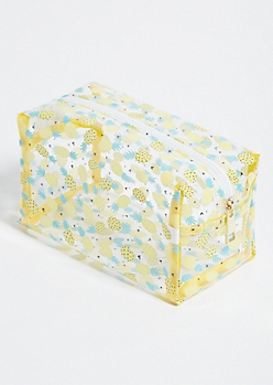 Clear Pineapple Cosmetic Bag