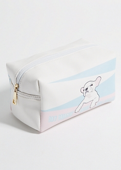 Pastel Frenchie Day Dreamin Cosmetic Bag