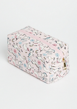 Pink Magical Unicorn Cosmetic Bag