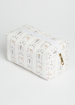 White Fantasy Bunnies Cosmetic Bag