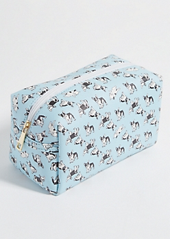 Light Blue Frenchie Cosmetic Bag