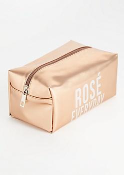 Rose Gold Rosé Every Day Makeup Bag