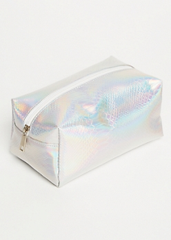 Iridescent Texture Makeup Bag
