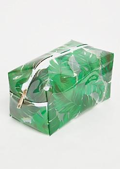 Palm Print Makeup Bag