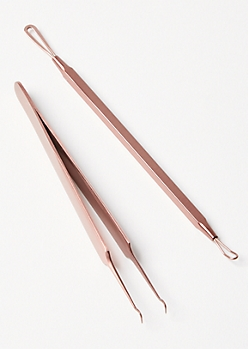 2-Pack Rose Gold Blackhead Removal Set