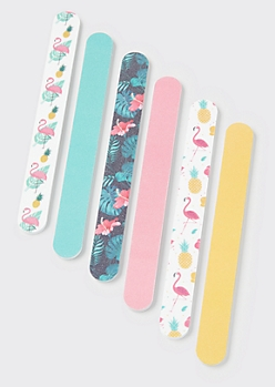6-Pack Flamingo Nail File Set