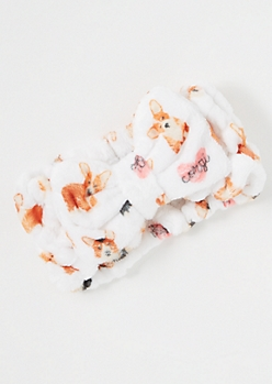 Corgi Print Spa Headband