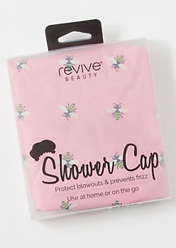 Pink Bee Shower Cap