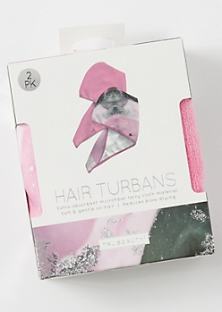 2-Pack Hair Turban Set