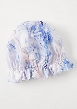 Lavender Marble Print Shower Cap
