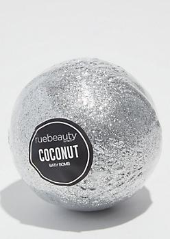 Silver Coconut Glitter Bath Bomb