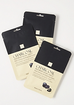 3-Pack Charcoal Face Mask Set