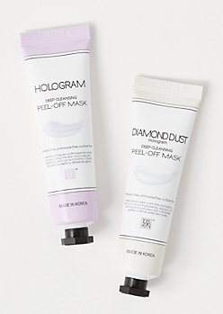 2-Pack Diamond Dust Hologram Face Mask Set