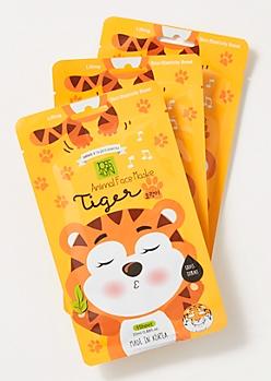 3-Pack Tiger Face Mask Set