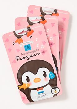 3-Pack Penguin Face Mask Set