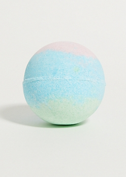 Green Blueberry Slime Bath Bomb