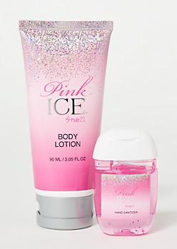 2-Pack Pink Ice Lotion Sanitizer Set