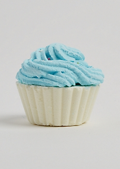 Blue Cotton Candy Cupcake Bath Fizz