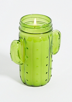 Green Cactus Candle