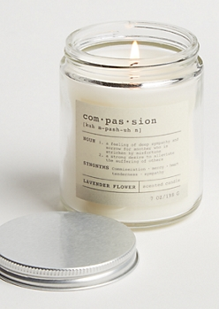 Compassion Lavender Flower Candle