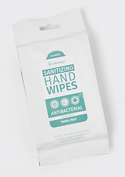 20-Pack Aloe Anti Bacterial Wipes