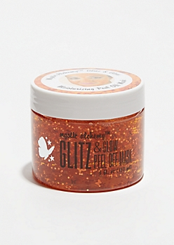 Moisturizing Orange Peel Glitter Face Mask