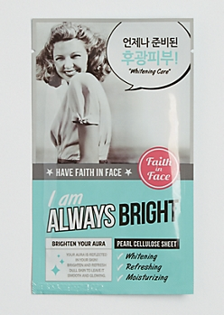 I Am Always Bright Sheet Mask By Faith in Face