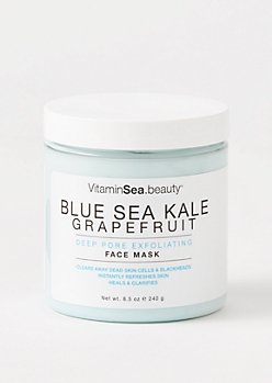 Blue Sea Kale Face Mask