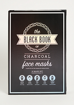 10-Pack Charcoal Black Book Face Mask Set