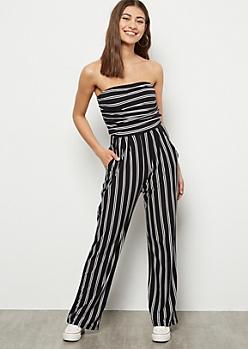 Black Striped Super Soft Jumpsuit