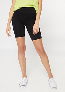 Black Stretchy Bike Shorts