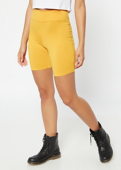 Mustard High Waisted Super Soft Bike Shorts