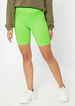 Neon Green High Waisted Super Soft Bike Shorts