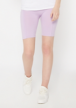 Lavender Cell Phone Pocket Bike Shorts