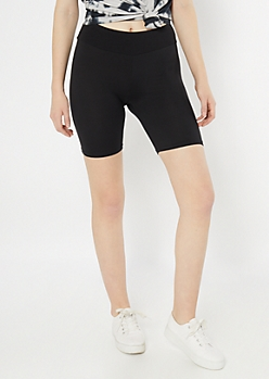 Black Essential Bike Shorts